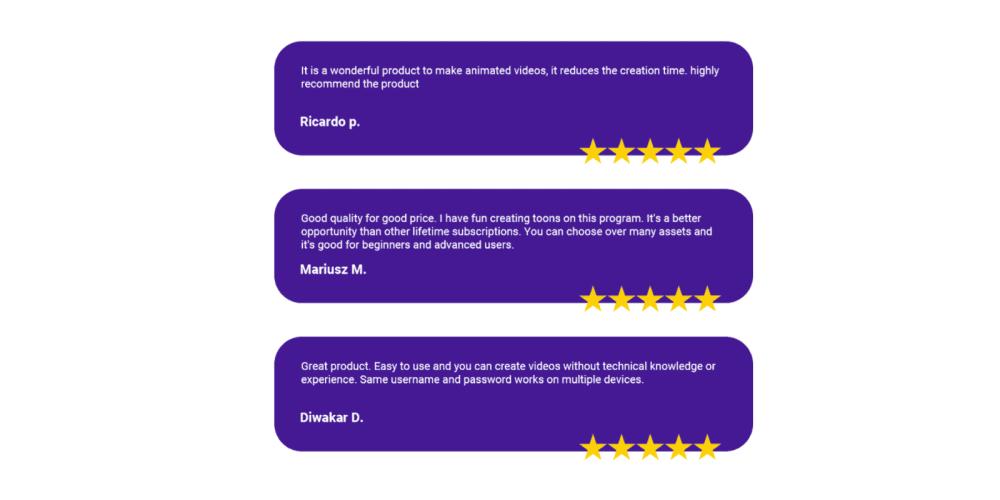 Vidtoon 2.0 customer reviews
