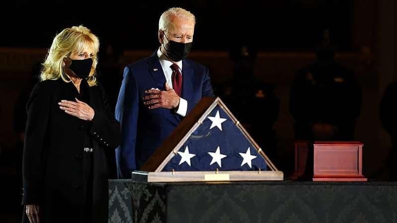 Biden Pays Respect To Fallen Capital Officer Brian Sicknick