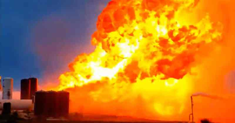 Explosion After Successful Landing Of Elon Musk's SpaceX