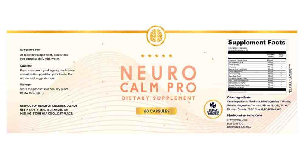Neuro Calm Pro Dosage