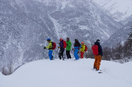 The team in powder