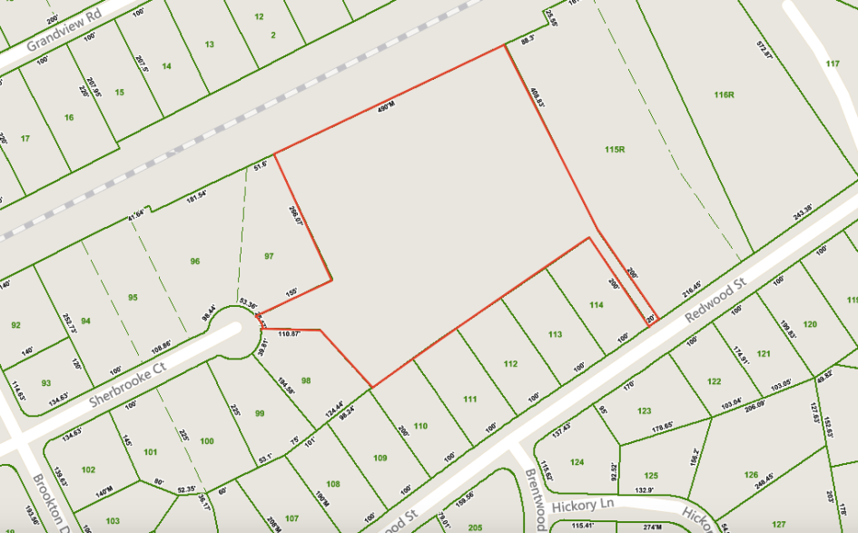 Sherbrooke Court - Outline Map