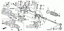Honda Cr-v 2007 2,2 Diesel Power Steering Rack Swy-e0