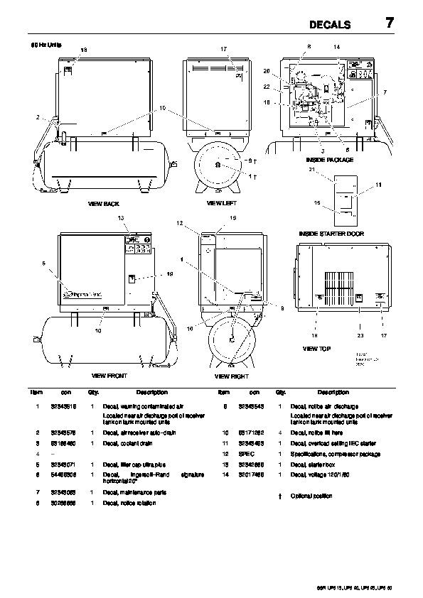 Ingersoll Rand SSR UP6 15 UP6 20 UP6 25 UP6 30 60Hz Air