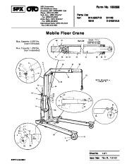 SPX OTC 014 00071B 61146 1819 D 01001AA Mobile Floor Crane