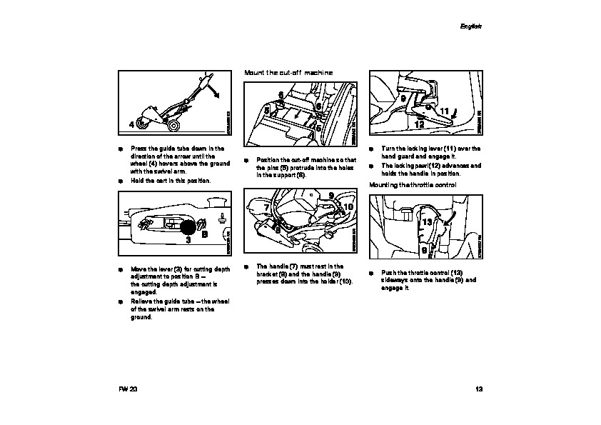 STIHL FW 20 Cut Off Saw Cart Owners Manual