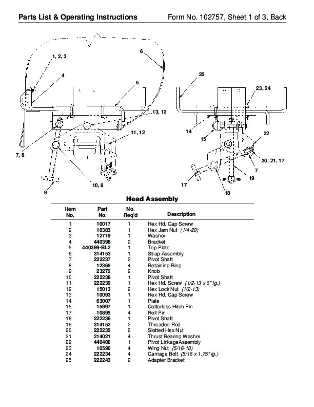 SPX OTC 1791 Lift Table High Lift Transmission Jack Owners