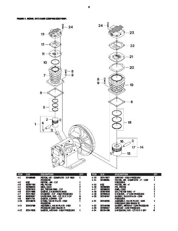 Ingersoll Rand 2475 Air Compressor Parts List