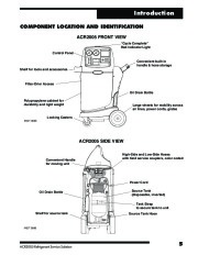 Robinair SPX ACR2005 Air Refrigerant Tool 30 60 SERIES