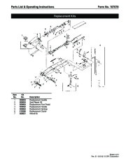 SPX OTC 1512 Service Jack Capacity 20 Tons Owners Manual