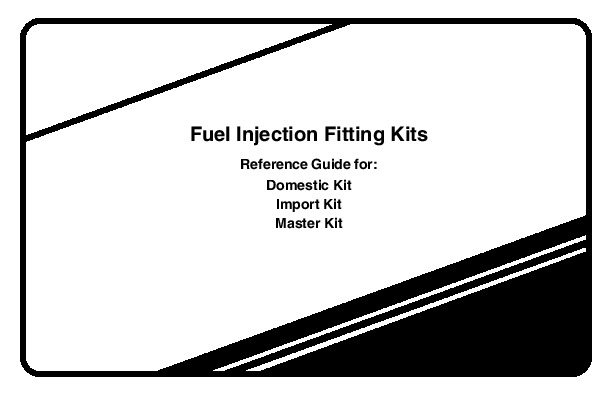 Robinair SPX Fuel Injection Fitting Kits Reference Guide