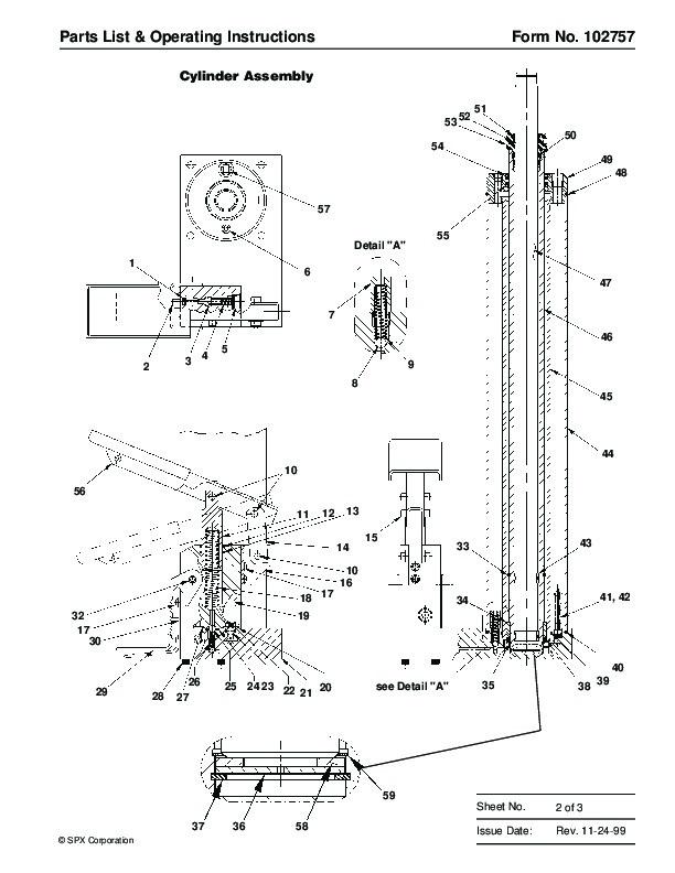 SPX OTC 1791 Lift Table High Lift Transmission Jack Owners