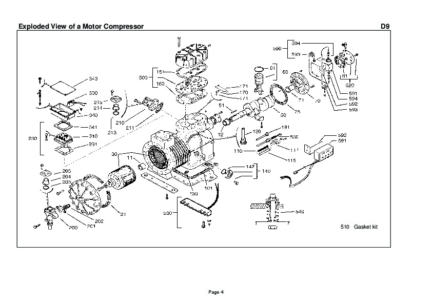 Emerson Copeland Spare Parts List DN DM D9 Compressor Parts