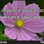 If you can imagine it you can achieve it if you can dream it you can become