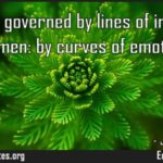 Men are governed by lines of intellect women by curves of emotion