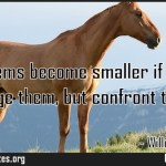 All problems become smaller if you dont dodge them but confront them