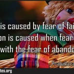 Anxiety is caused by fear of failure but depression is caused when fear of Meaning