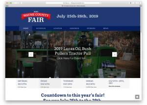 Wayne Nebraska County Fair Website Design