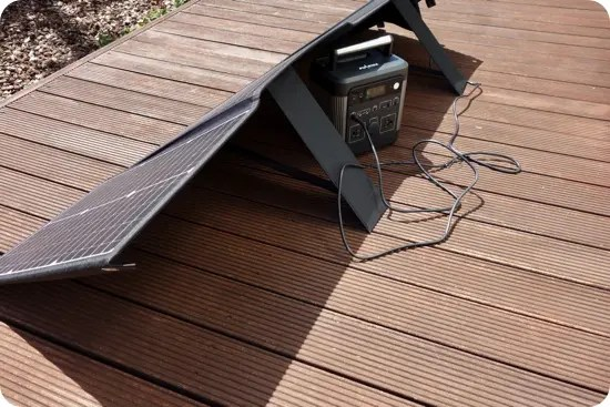 「Puleida ポータブル電源 PU600」をELECAENTA 120W ソーラーパネルで充電