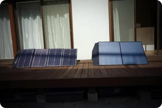 実証実験したポータブル電源とソーラーパネルの組み合わせ