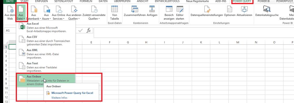 Dateien kombinieren - PowerBI Pro