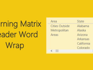Row Header Word Wrap