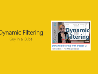 Dynamic Report Filters - Guy in a Cube