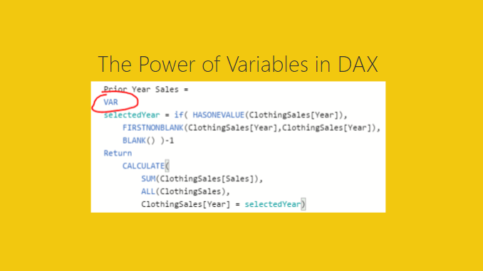 Using Variables within DAX