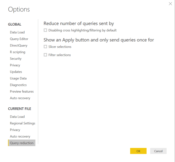 Query Reduction Options
