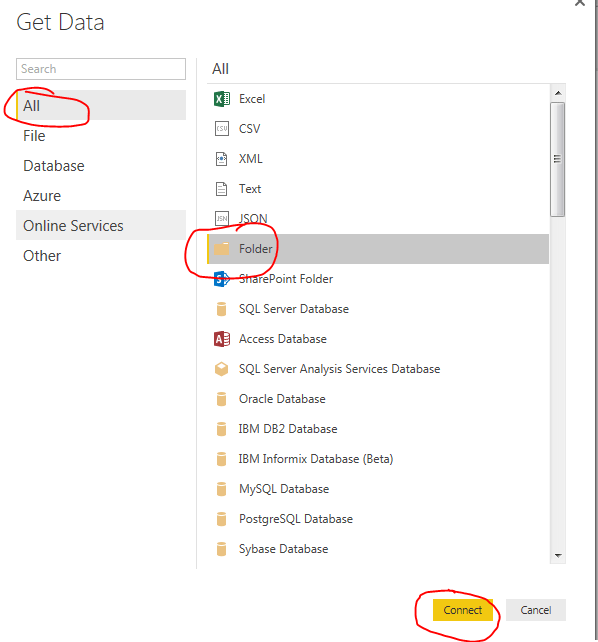 Get Data from Folder