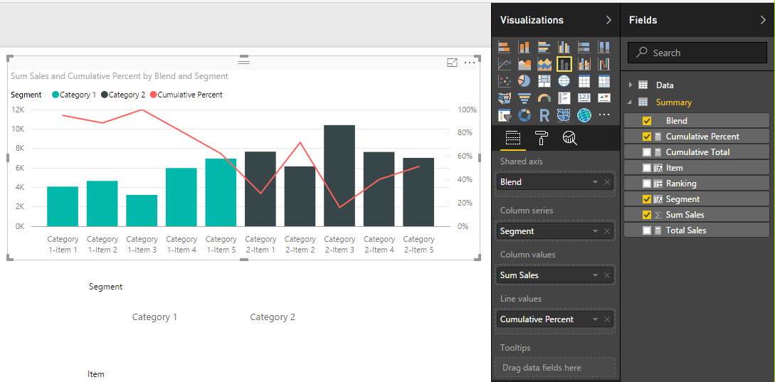 Add Line and Stacked Bar Chart