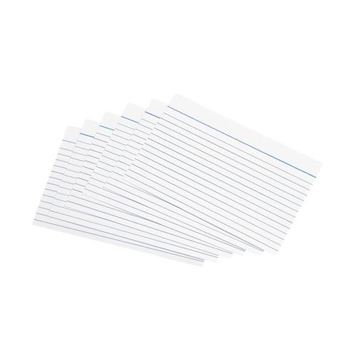 5 Star Office Record Cards Ruled Both Sides 155gsm 6x4in