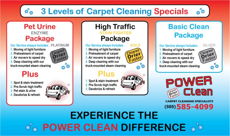 Albuquerque Carpet Cleaning Specials