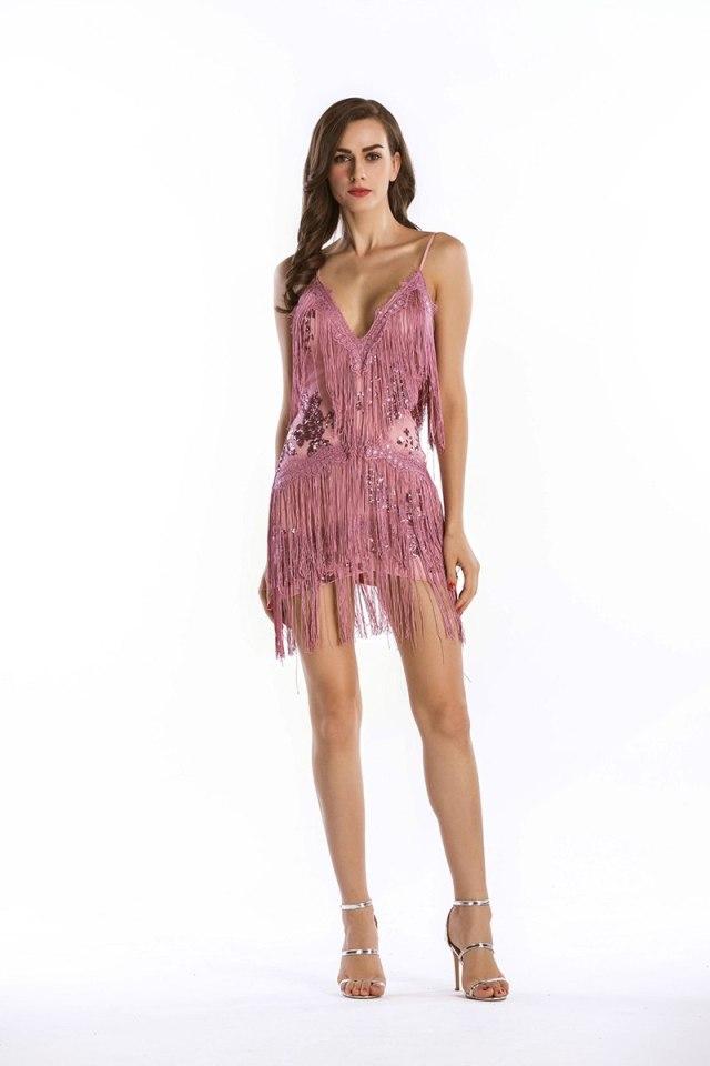 Pink Party Dress 1920s Flapper Dress Women Short Dress ...