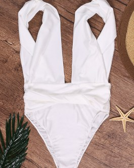 Sexy Deep V Backless Bathing Swimsuit