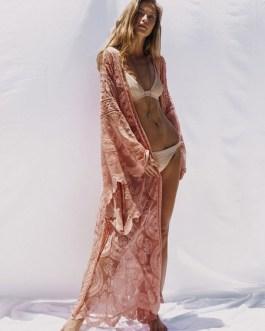 Lace Kimono Jacket Women Long Sleeve Open Front Longline Jacket