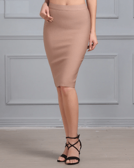 Women Bandage Sexy Knee-length Bodycon Party Skirt