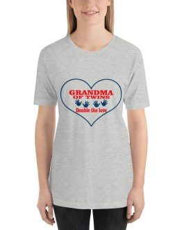 Grandma of twins-double love Short sleeve t-shirt