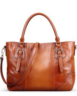 Women Genuine Leather Brush Vintage Tote Bag Handbag Crossbody Bag