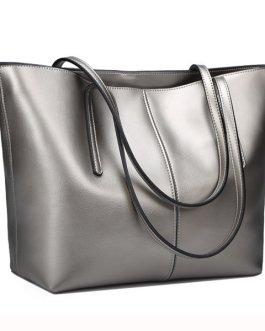 Women Geunine Leather Handbag Retro Shoulder Bag High-end Leather Tote Bag