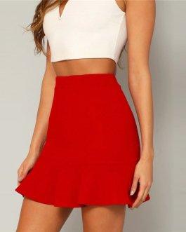 Womens High Waist High Street Sheath Mini Skirt