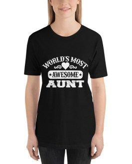 World's most awesome aunt short sleeve t-shirt