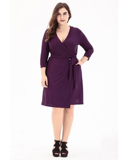 Elegant Casual Vestidos plus size short dress
