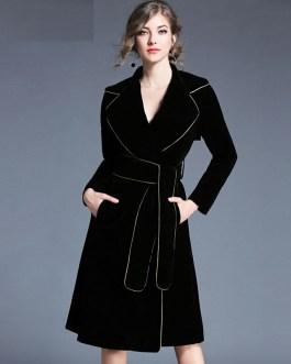 Elegant Velvet long Sleeve party dress