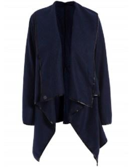 Fashionable Long Sleeve Asymmetric Coat