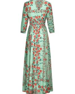 Floral Print Oversized Long Dress