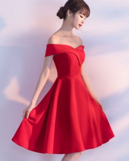 Off The Shoulder Short Homecoming Dress Knee Length Party Dress
