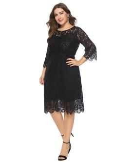 Plus size lace sexy bodycon party dress