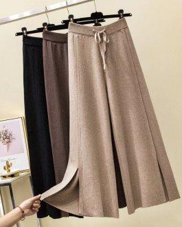Pure Split Soft Cashmere Sweater Pants