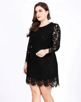 lace plus size bodycon Sexy mini short dress